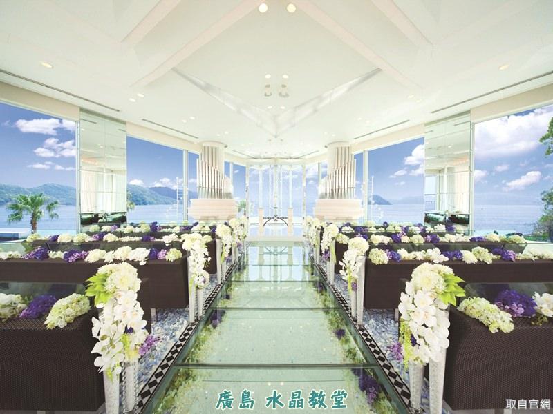 【海外婚禮教堂|日本】廣島 ♥ 水晶教堂~遠眺瀨戶內海的璀璨教堂